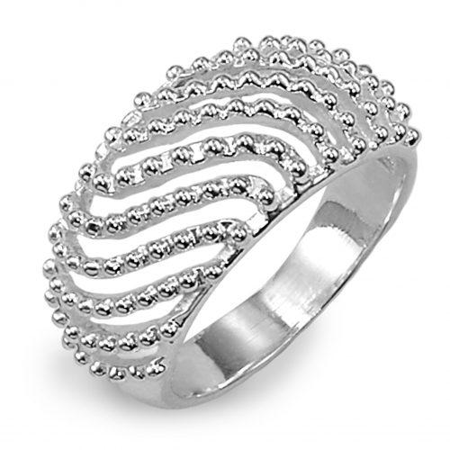 Ostheimer Schmuck Online Shop Einkaufsberatung Ring glanz Wellenmuster mit Kügelchen aus 925 Sterling Silber AR-1629-6-500x500
