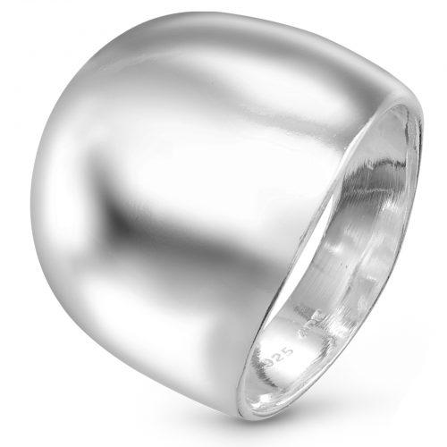 Dieter Ostheimer Schmuck Niefern Pforzheim Silberschmuck breiter gewölbter Ring in hochglanz poliert aus 925 Sterling Silber AR-1812-5